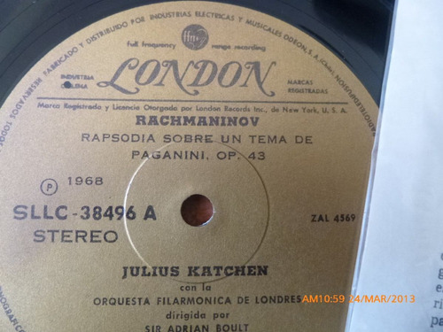 vinilo lp rachmannivoy -dohnanyi (u722