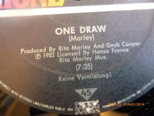 vinilo  lp rita marley // one draw  super single (823