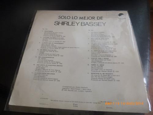 vinilo lp shirley bassey   solo lo mejor (u93