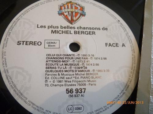 vinilo lp style -  michel berger  -le plus belles  (223)