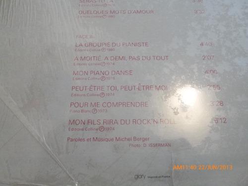 vinilo lp style -  michel berger  -le plus belles  (u163