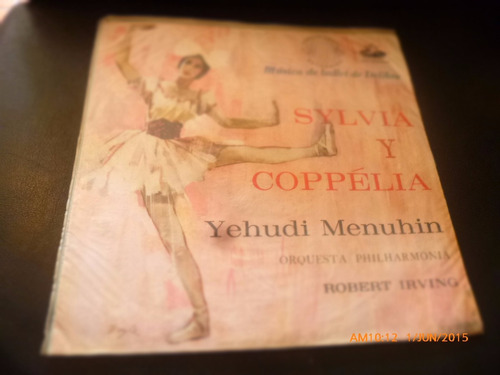 vinilo lp  sylvia y coppella  -yehudi menuhin   (1256