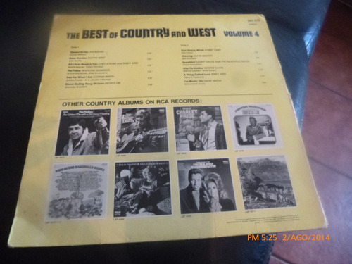 vinilo  lp the best of country and west  volumen 4 (u347