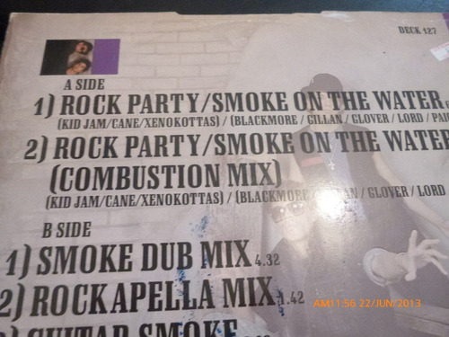 vinilo lp  the da  rock party -smoke on the water (u443