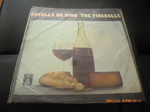 vinilo lp  the fireballs -- botella de vino (1148