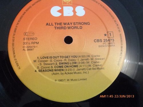 vinilo lp  third word  all the way strong (858)