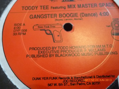 vinilo lp toddy tee -- mix master spade (lp491
