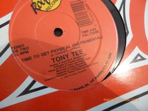 vinilo lp  tony tee  time to get  physical (411)