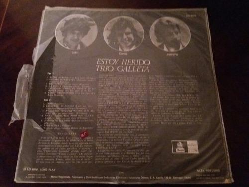 vinilo lp trio galleta  estoy herido (u1364
