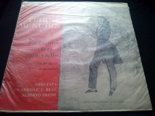 vinilo lp yehudi menuhin paganini conciertos para violin