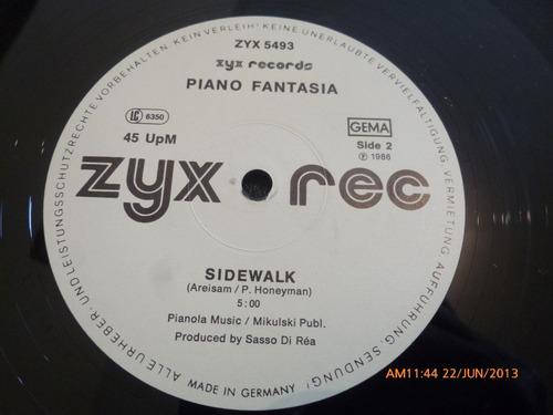 vinilo lp zyx  piano fantasia --walman -sidewalt (u731