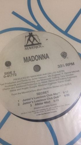 vinilo // madonna - secret // made in usa