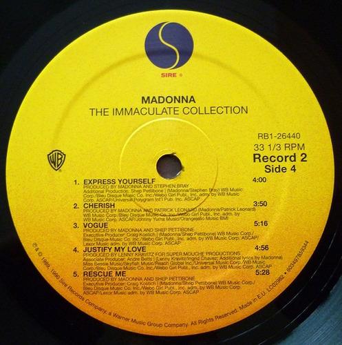 vinilo madonna the immaculate collection 2 lp nuevo sellado