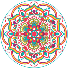 Vinilo Mandala Decorativo Mural Pared 50x50cm Modelo O