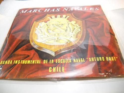 vinilo marchas navales, escuela naval arturo prat, chile.
