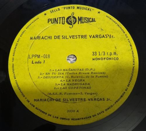 vinilo mariachi de silvestre vargas jr. -  punto musical
