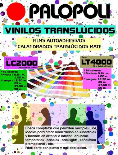 vinilo mate 70 colores- palopoli lc2000 ancho 0.61 o 1.22m