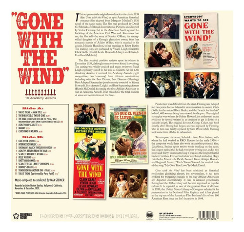 vinilo : max steiner - gone with the wind: the complete...