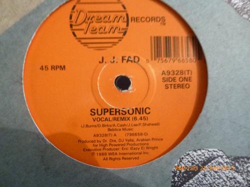 vinilo  maxi single   j.j. fad  supersonic (u269
