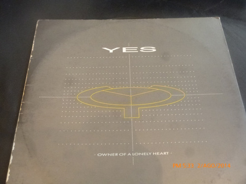 vinilo maxi single yes //  owner of a lonely heart (u459