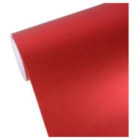 Vinilo Metalizado Rojo Semi Mate Ancho 1,52 Mts Vta X Mt