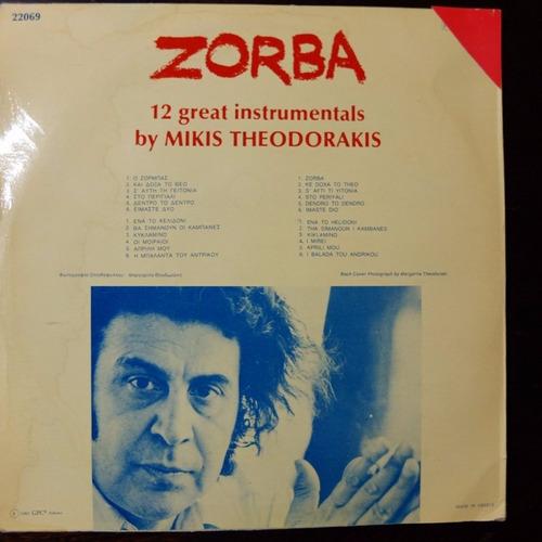 vinilo  mikis theodorakis   zorba (vinilo europeo)