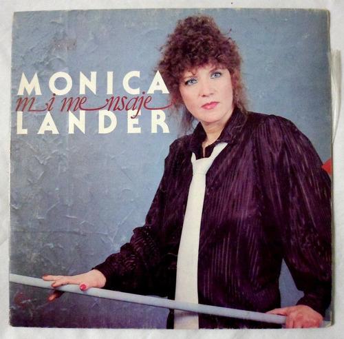 vinilo: monica lander / mi mensaje