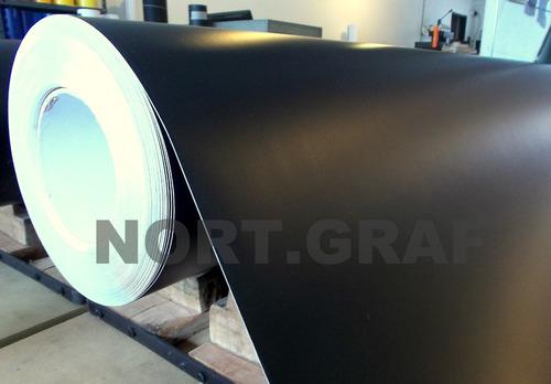 vinilo negro mate 1,22 ancho x 1,00 mt largo ploter unical