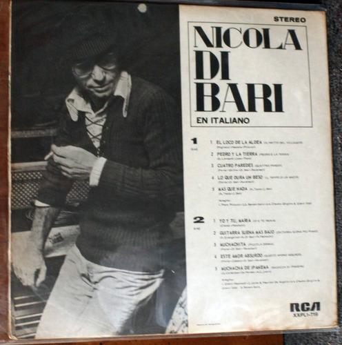 vinilo nicola di bari en italianonicola di bari1974