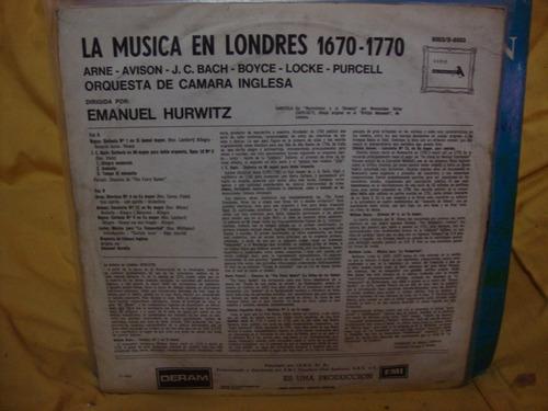 vinilo orquesta inglesa la musica en londres 1670 - 1770 p4