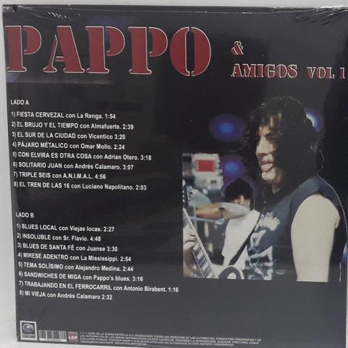 vinilo pappos blues -pappo y amigos 1.- lp reedición 2017