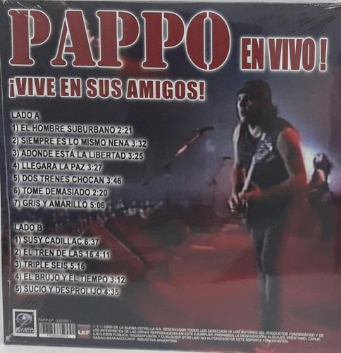 vinilo pappos blues vive en sus amigos  lp nuevo en stock