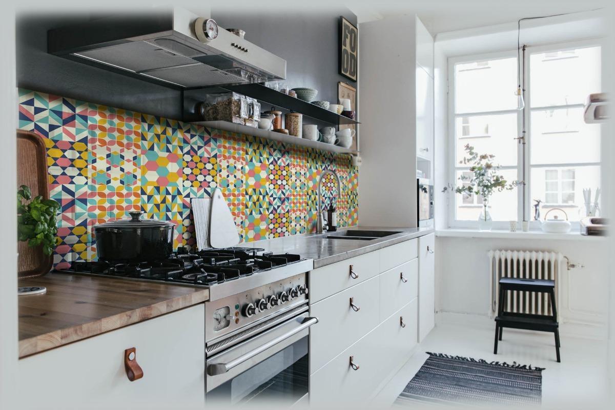 Vinilo Para Cocina Simil Azulejos 20x20cm Impreso Full Color 265