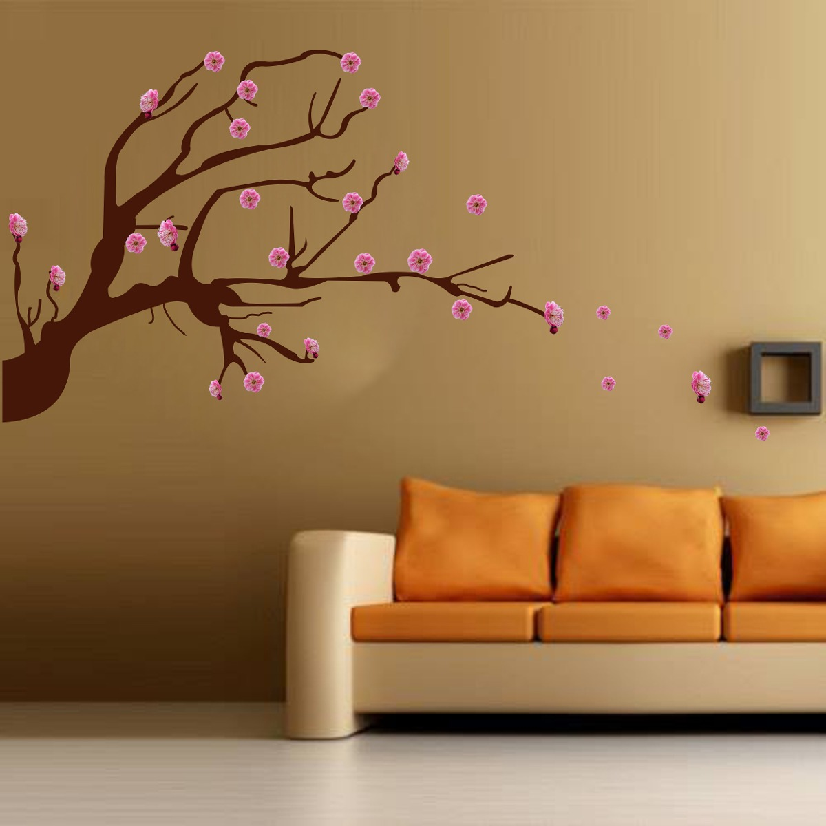Vinilo Pared Arbol De Cerezo Ceibo Decoracion Wall