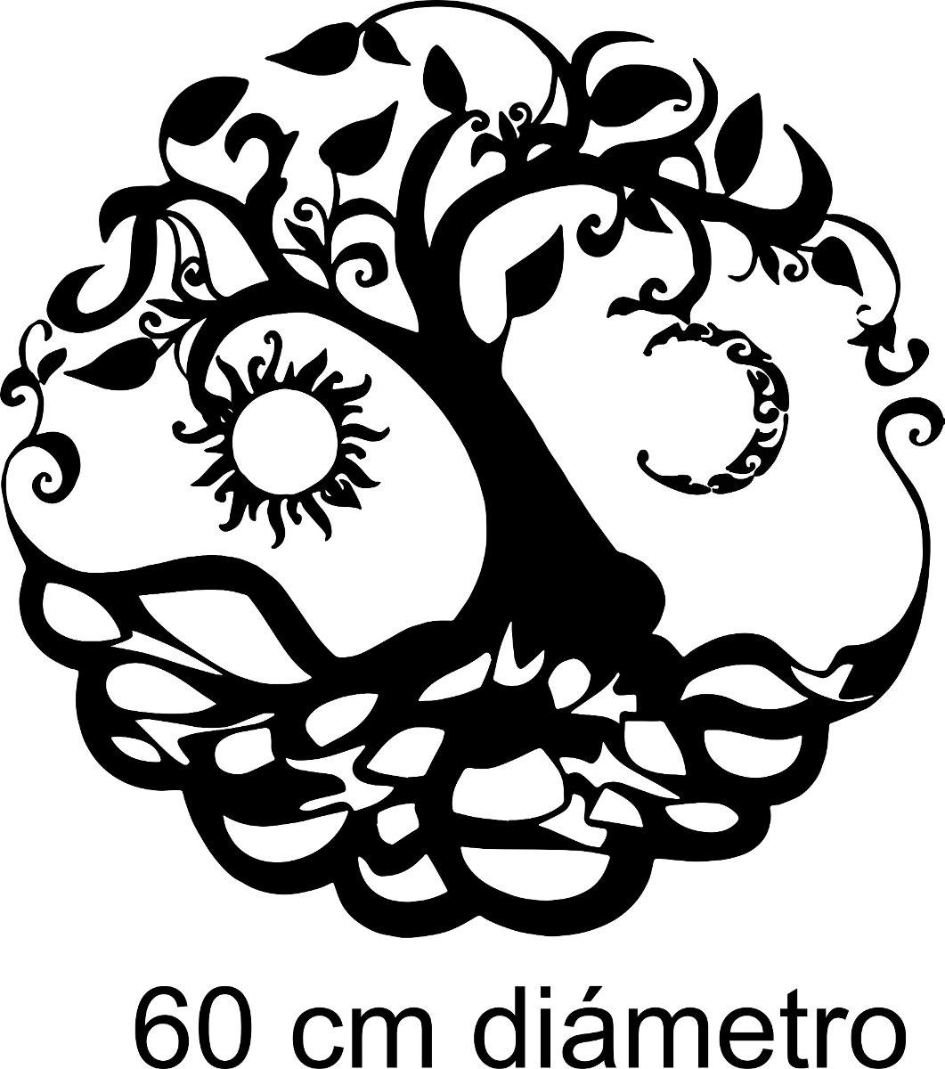 Vinilo Pared árbol De La Vida Sol Y Luna Wall Stickers 35204 En