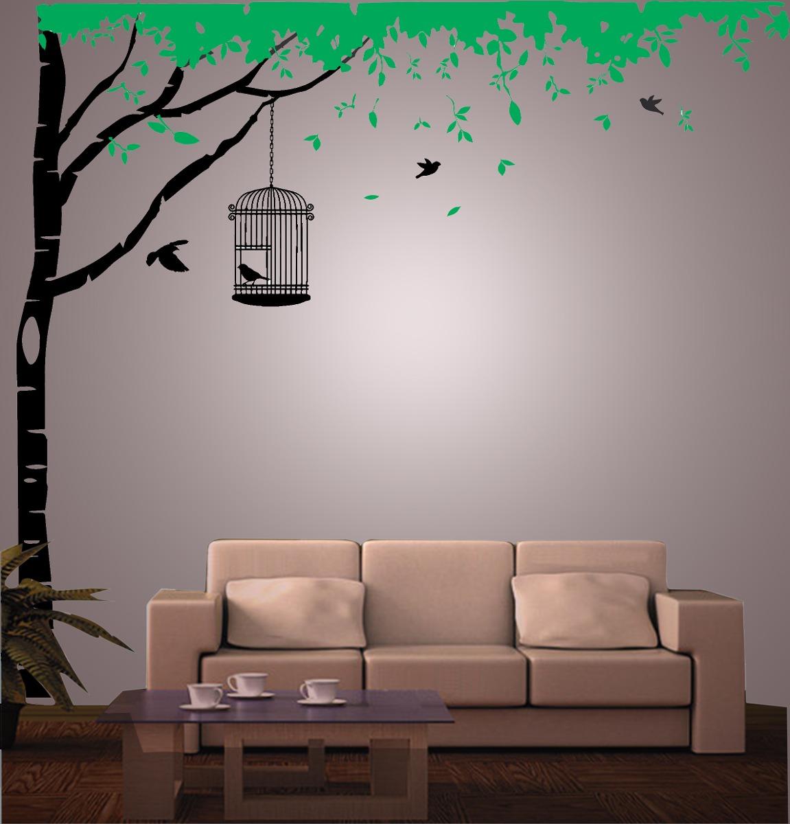 Vinilo pared arbol y hojas decoraci n wall stickers - Decoracion para pared ...