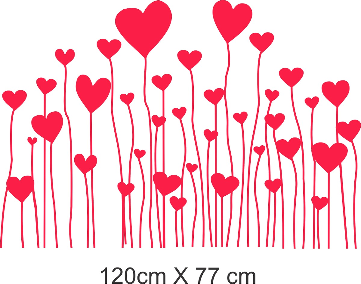 Vinilo Pared Corazones Decoracion Wall Stickers 75274 En - Corazones-de-decoracion