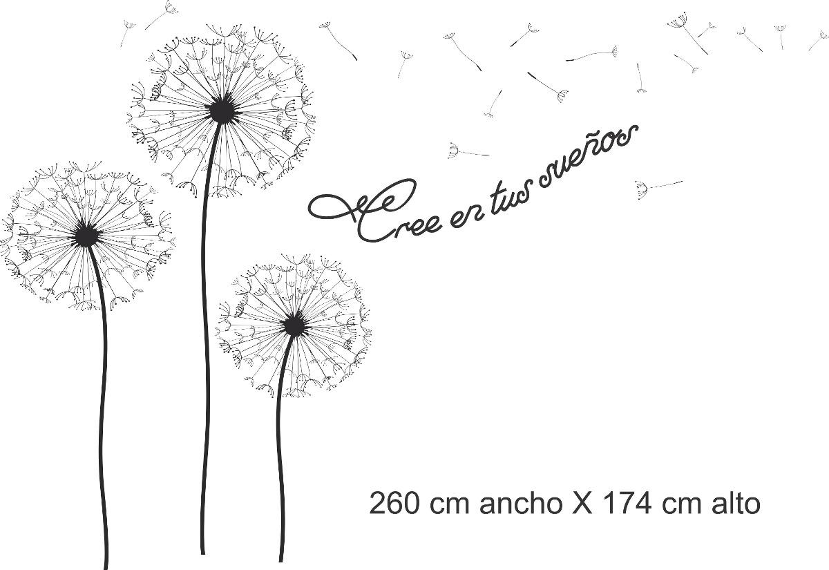 Vinilo Pared Diente De Leon Con Frase Wall Stickers 107216 En