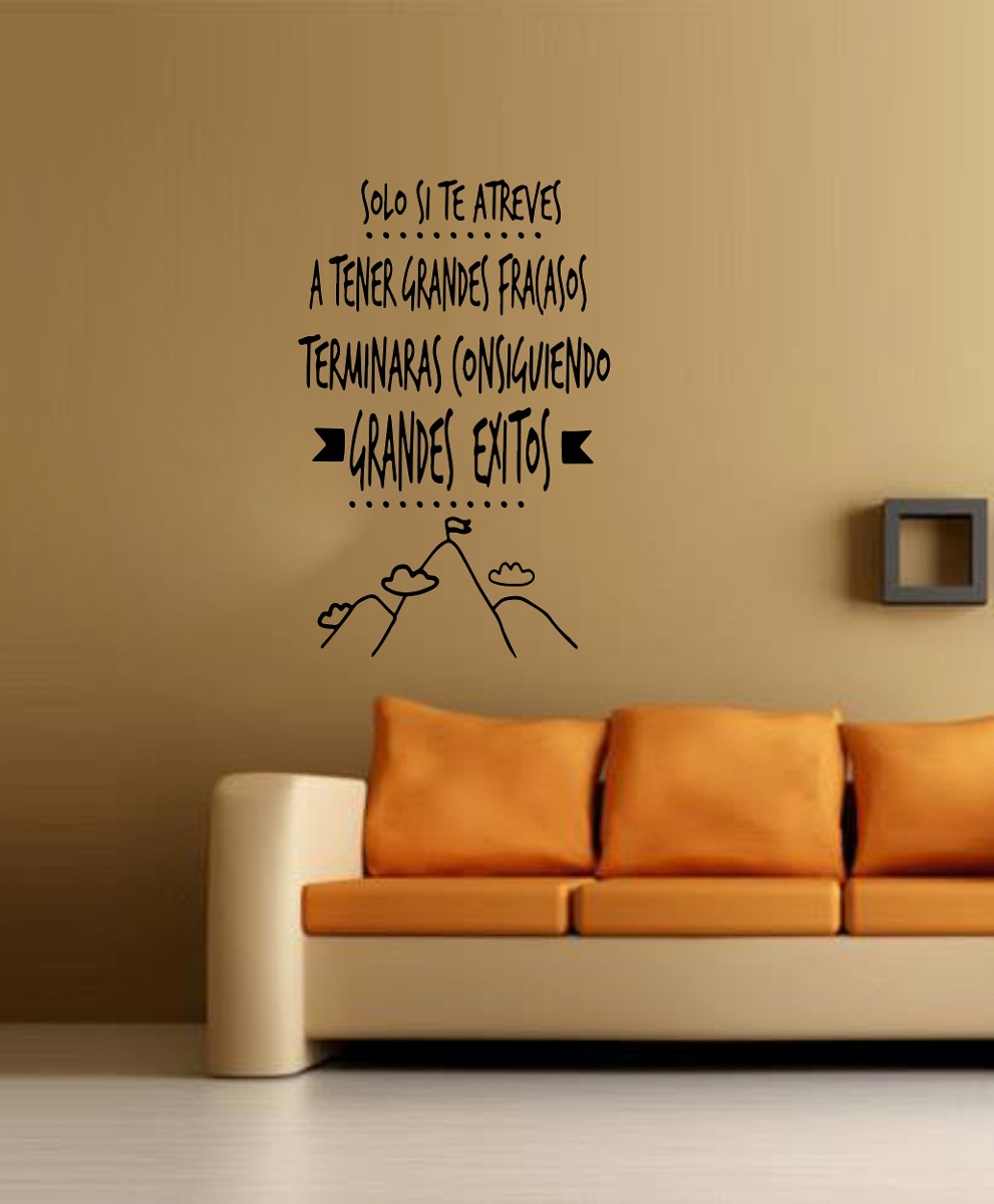 Vinilo Pared Frases 5 Decoracion Wall Stickers 37638 En Mercado - Decoracin-de-pared