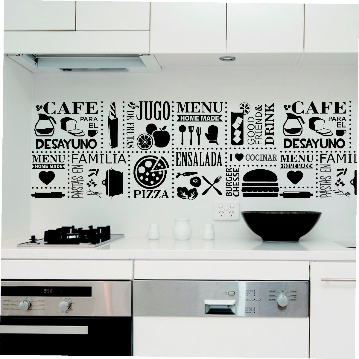 Vinilo Pared Guarda Cocina B Wall Sticker - $ 317,40 en Mercado Libre