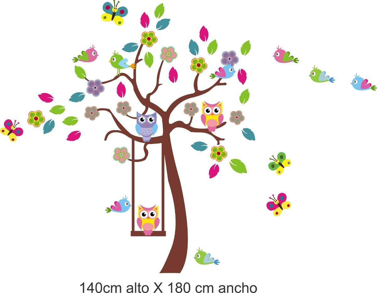 Vinilo Pared Infantiles Búhos Color Decoración Stickers 105263