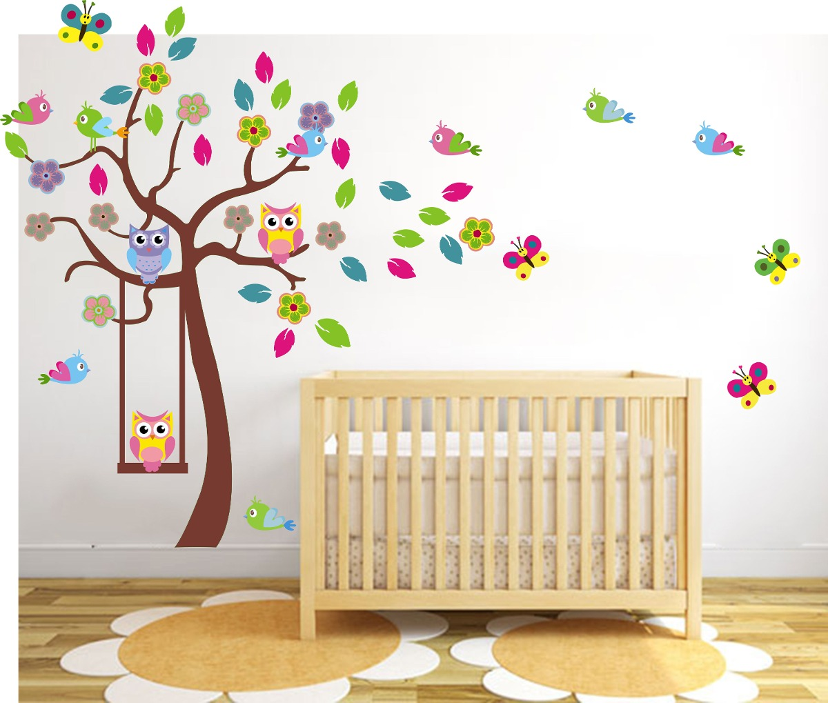 Decoracion pared infantil affordable con with decoracion for Pared habitacion infantil