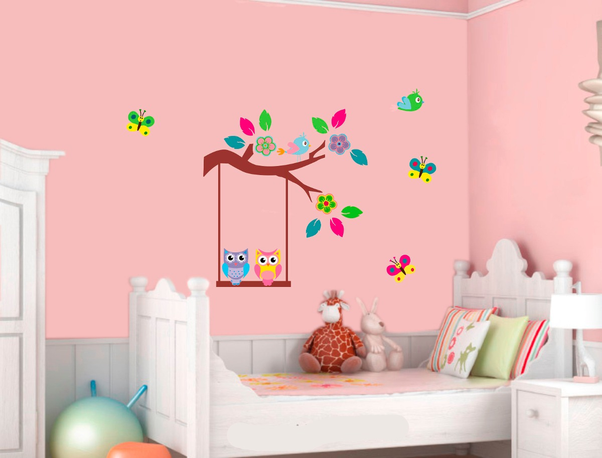 Decoracion infantil pared elegant decoracin infantil with - Decoracion paredes habitacion infantil ...