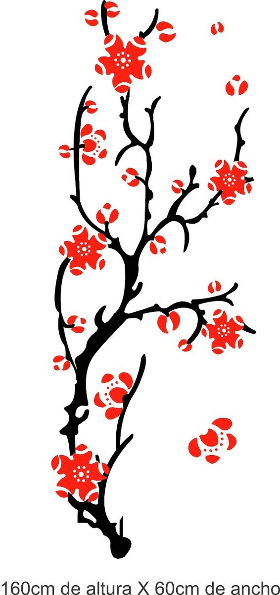 vinilo pared ramas y flores decoracin wall stikers