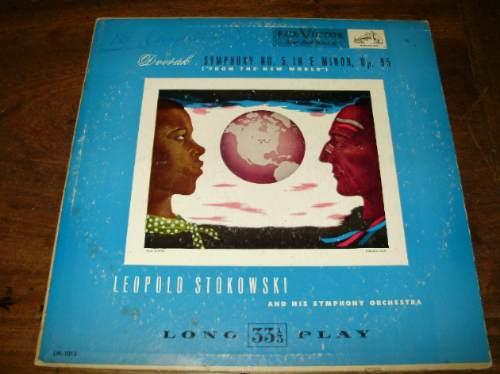 vinilo pasta 12'' dvorak sinfonia en e menor op 95 stokowski