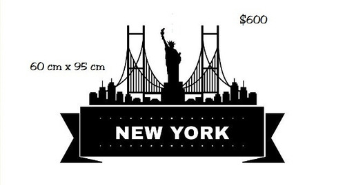 vinilo pegotin de pared new york