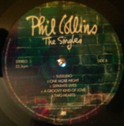vinilo phil collins the singles 2 lp nuevo sellado con stock