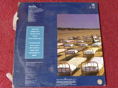vinilo pink floyd a momentary lapse of reason 1987
