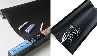 vinilo pizarrón - pizarra adhesiva - ideal decoración - tiza