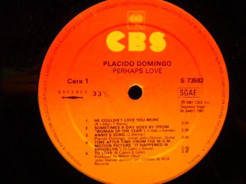 vinilo placido domingo with john denver. perhaps love